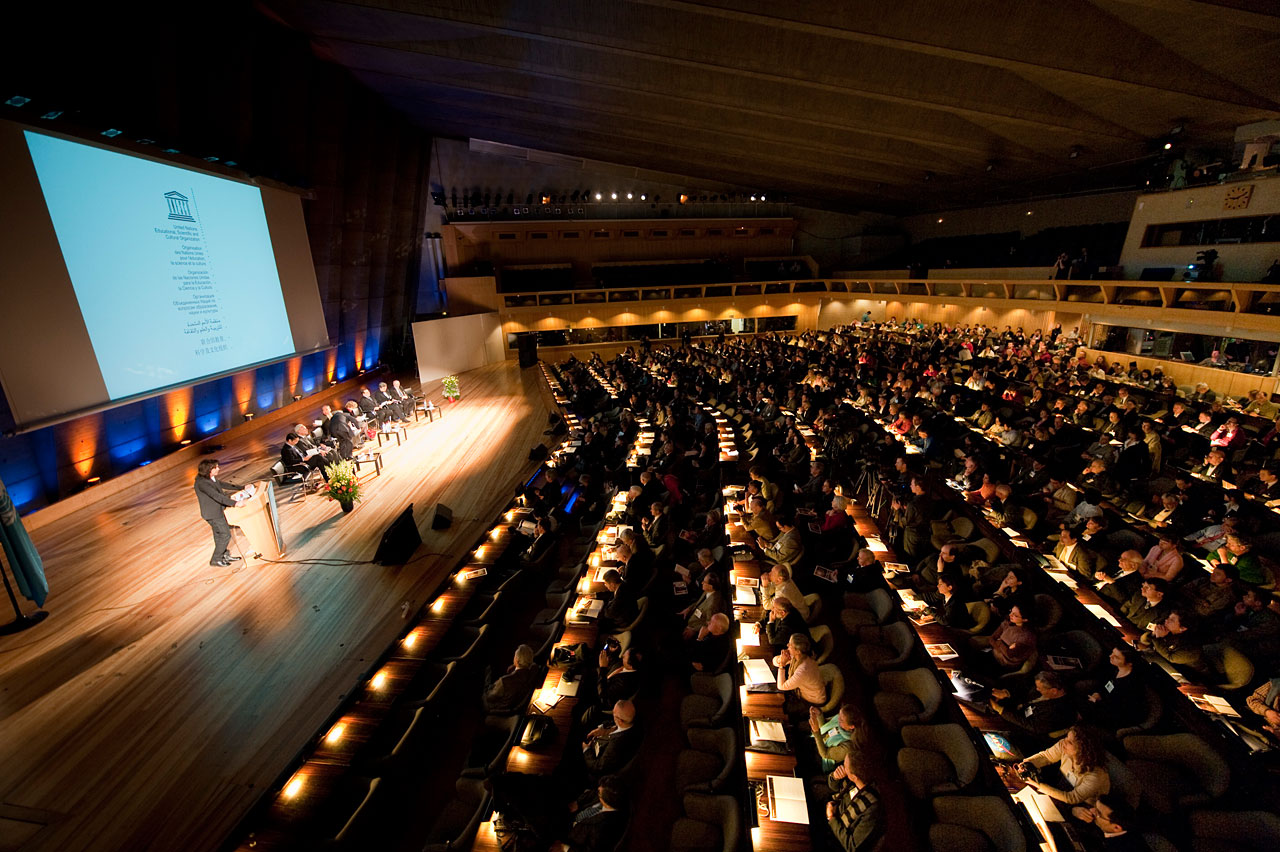 The International Year of Light opening ceremony today at UNESCO headquarters, Paris