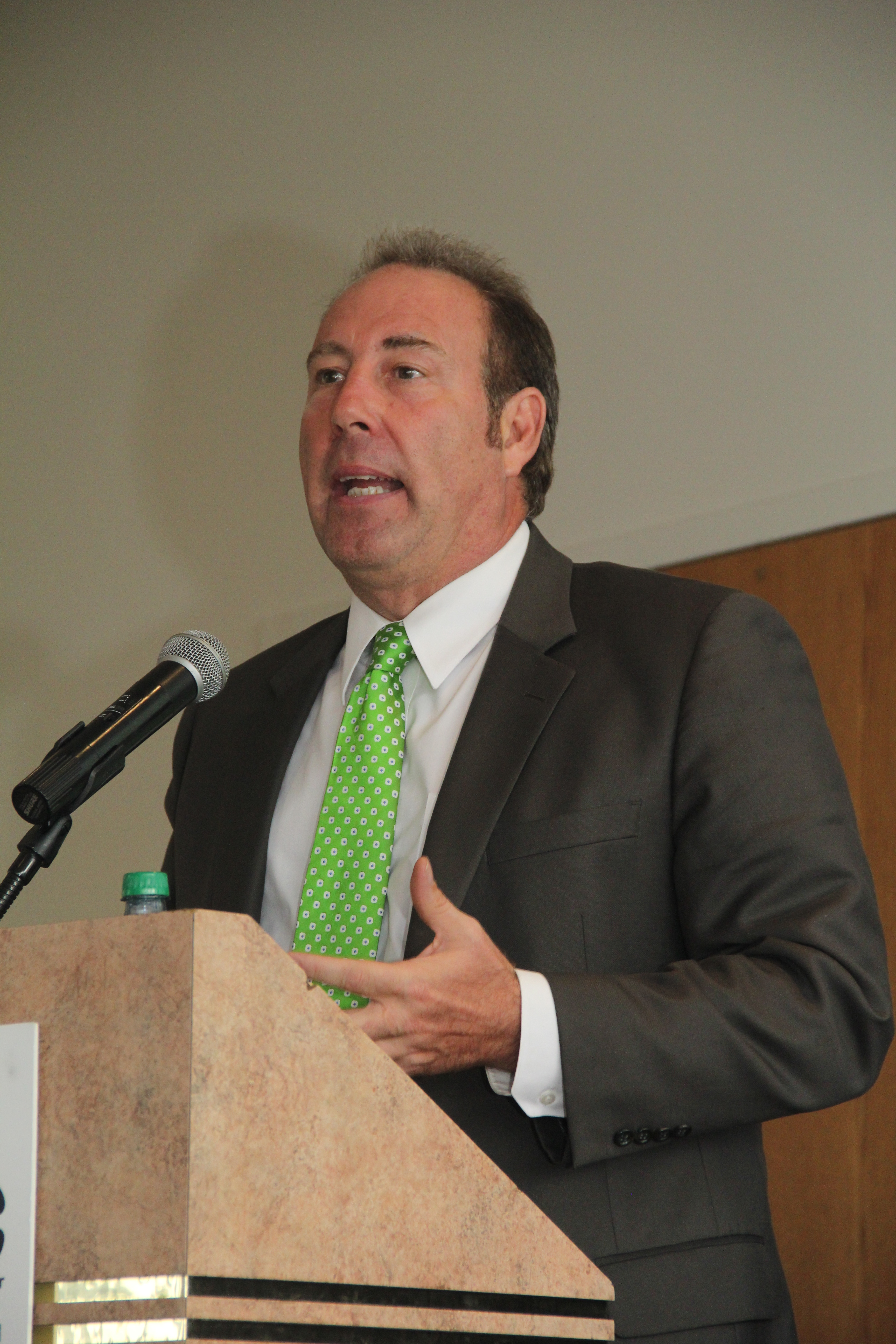 State Senator Joseph Robach speaks during the Annual Meeting